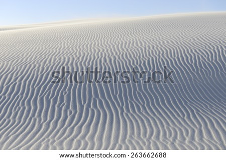 Rippled Patterns in Sand Dunes - stock photo