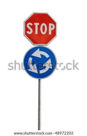 Road sign   isolated on wite background