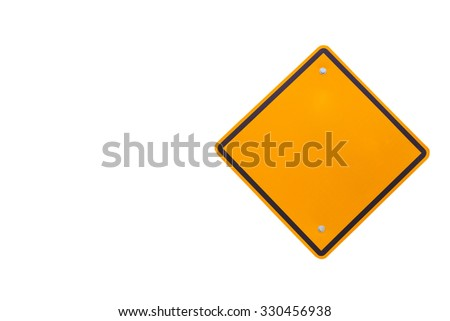 road sign with clipping path - stock photo