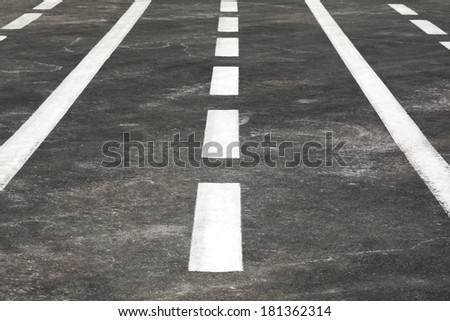 Road with a marking - stock photo