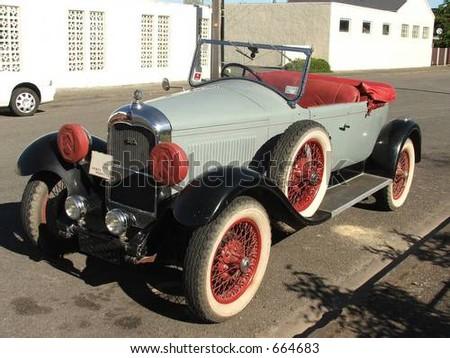 1930 roadster car - stock photo