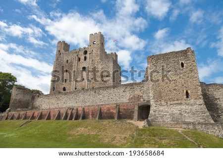 Rochester Castle in Kent, England - stock photo