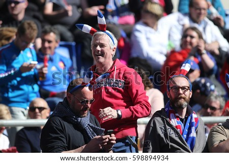 11.03.2017. Rome, Italy. Rbs Six Nations Italy versus France.Supporters on the stand  during the RBS Six Nations match between Italy and France at Stadio Olimpico on March 11, 2017 in Rome.
