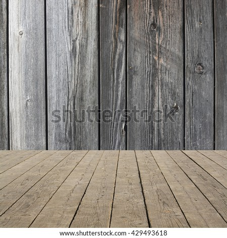 room interior with old wooden design