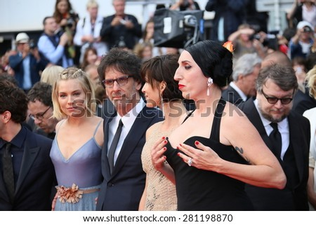 Rossy de Palma,  Joel Coen, Sophie Marceau   attends the closing ceremony during the 68th annual Cannes Film Festival on May 24, 2015 in Cannes, France. - stock photo