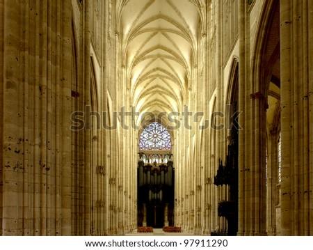 Rouen   Rouen Abbey Church of Saint-Ouen - stock photo
