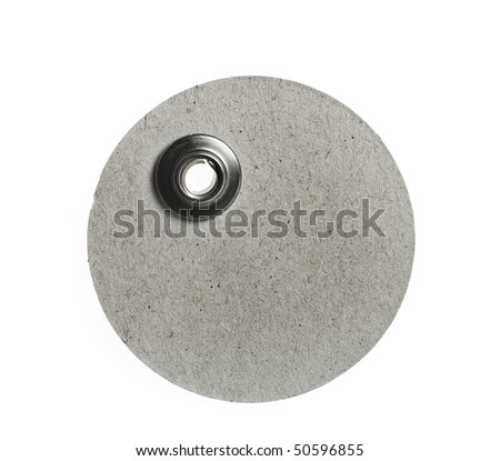 round blank price tag  close up isolated on white background - stock photo