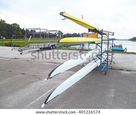 Rowing boats - stock photo