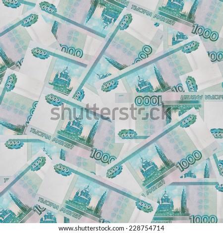 1000 rubles - stock photo