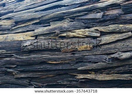 ruin plank wooden wall - stock photo
