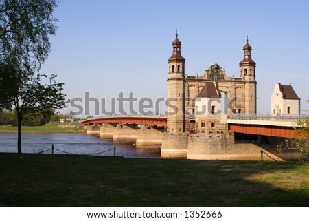 """""""Russia - Lithuania"""" border in Sovetsk - stock photo"""