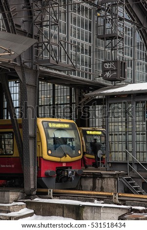 S-Bahn trains, Berlin, Germany