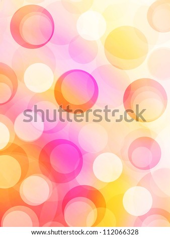 70's bubbles background - stock photo
