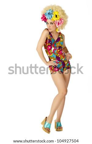 1960's hippie chic - stock photo