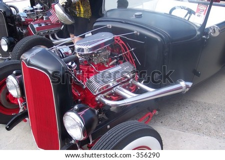 50's Hotrod engine, grill, front wheel