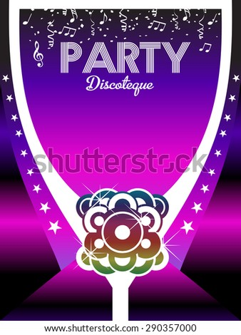80s Party Poster Art Background.  - stock photo
