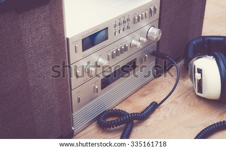 1980's stereo set - stock photo