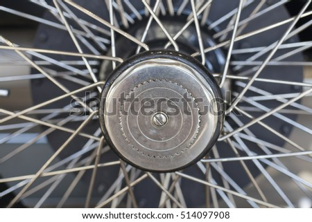 1920's vintage car wheel with spokes
