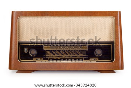 1950s vintage radio. Contains clipping path