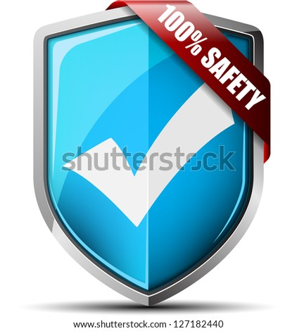 100% Safety Shield - stock photo