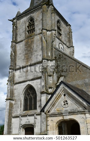 Sainte Marguerite sur Duclair, France - june 22 2016 : the church