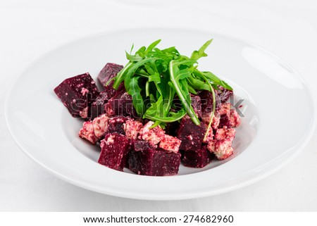 Salad with beetroot - stock photo