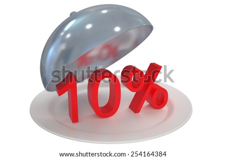 10 %,  sale and discount concept  isolated on white background - stock photo