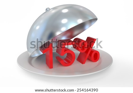 15 %,  sale and discount concept  isolated on white background - stock photo