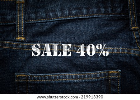 sale 40% in white background - stock photo