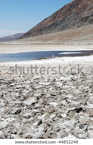 Salt flats in Death Valley California