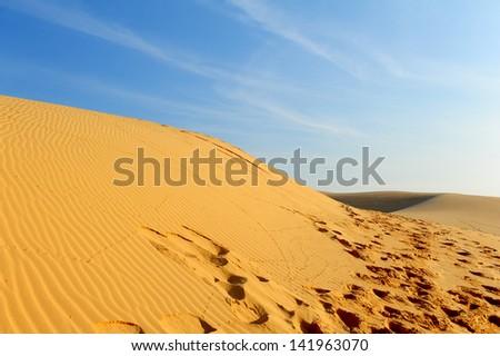 Sand Dunes - stock photo