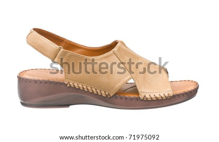 sandal leather safety and comfortable for older people