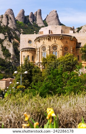 Santa Maria de Montserrat monastery. Catalonia, Spain  - stock photo