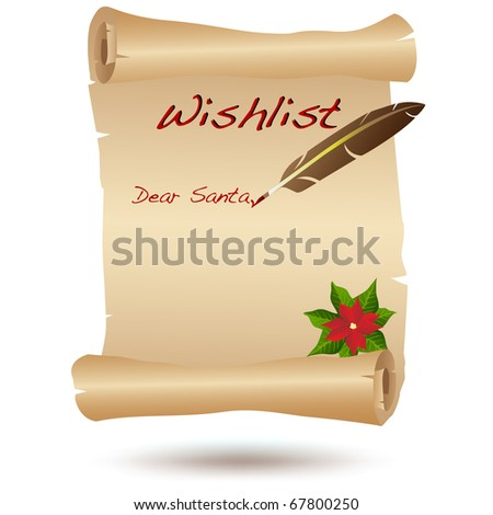 Santa's Wish list - stock photo