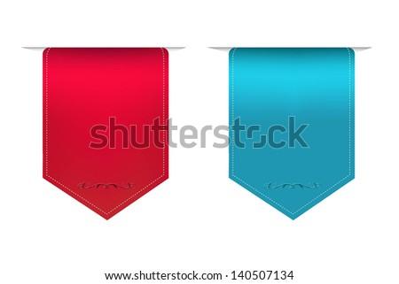 2 Satin Ribbons - stock photo