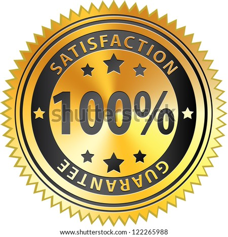 100% Satisfaction Guarantee - stock photo