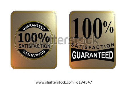 100% satisfaction guaranteed badge - stock photo