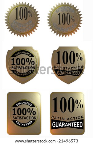 100% satisfaction guaranteed icon set