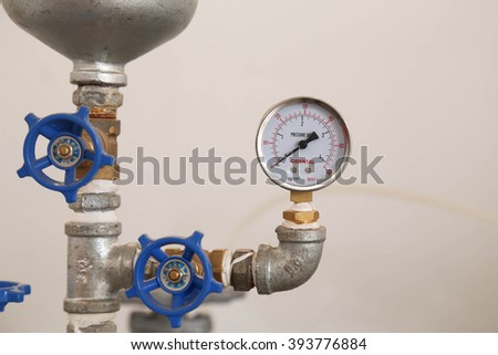 scales dial - stock photo