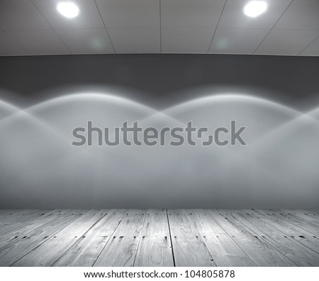 scene interior with original illumination - stock photo