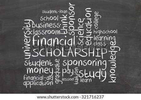 Scholarship wordcloud