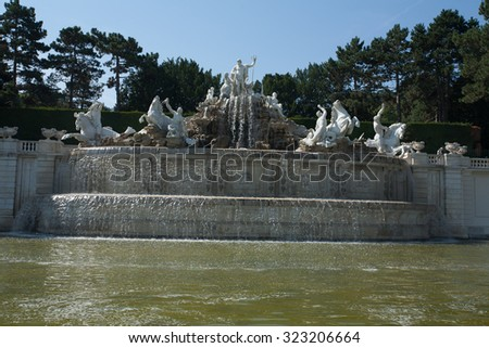 schonbrunn palace vienna austria capital city imperial - stock photo