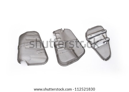 scooter parts fastener and forging products on white back ground - stock photo