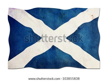 Scottish Flag made of Paper - stock photo