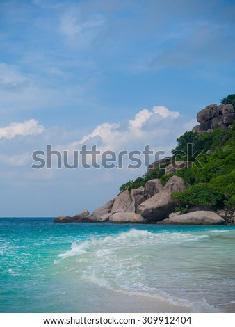 sea and nature of NangYuan and Tao island