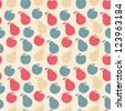 seamless pattern of fruit - apple and pear . Raster version - stock photo