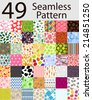 49 Seamless Pattern Set  Illustration. - stock vector