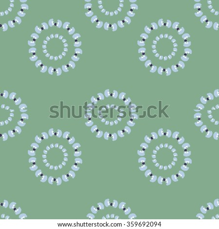 Seamless pattern with a hedgehog - stock photo