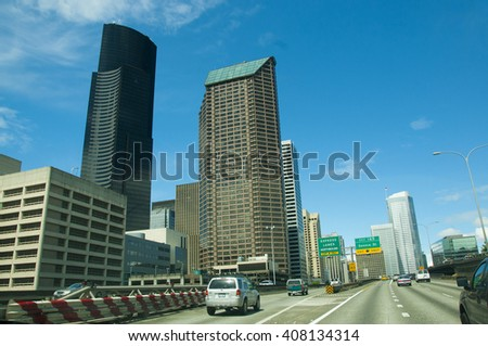 SEATTLE, WA, USA - MAY 22: Downtown Seattle, a mixture of commercial and increasing residential real estate, Seattle, Washington, United States, on 22 May 2010