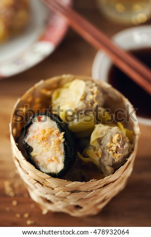 seaweed and pork dumplings